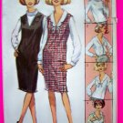 1960's Blouse Long Sleeve Shirt Roll Tie Scalloped Ruffle Collar B 36 Vintage Sewing Pattern 6276