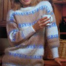 USA 1 Cent S&H 80's Easy Vintage Knitting Pattern Fair Isle Sweater Womens Bust 30 32 34 36