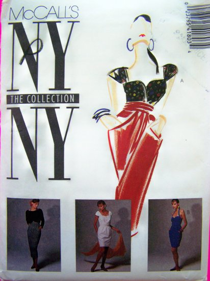 1980's Vintage 2 Pc Dress Halter Top Slim Skirt Dolman Jacket B 32.5 Sewing Pattern 4180