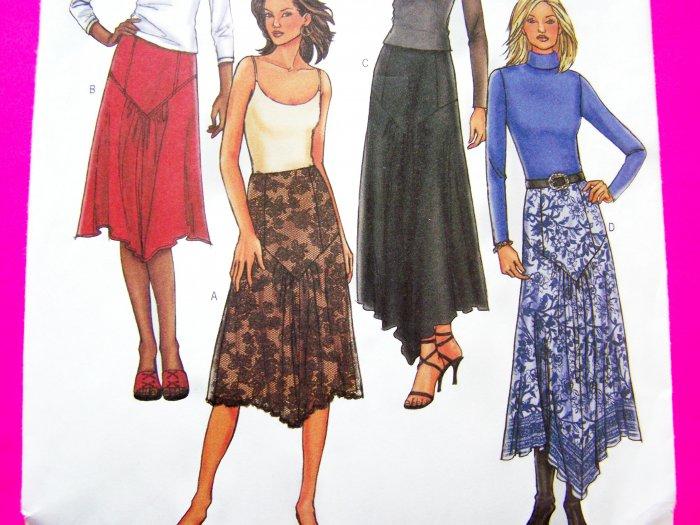New Flared Skirts Contour Waist Side Zipper Plus Sz 18 20 22 New Sewing Pattern 4026