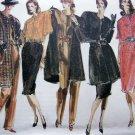 Uncut 80s Vogue Vintage Sewing Pattern Jacket Blouse Slim Skirt 8 10 12 Straight Legged Pants 990