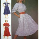1980's Dolman Dress Bias Skirt Elastic Waist B 32.5 Sz 10 Simplicity Vintage Sewing Pattern 6740