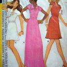 1970s Vintage Hippie Dress Mini Maxi 32.5 Stephen Burrows Designer Sewing Pattern 4089