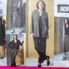 Uncut Vogue ADRI Princess Seam Jacket Pullover Top Skirts Pant Suit 12 14 16 New Sewing Pattern 2875