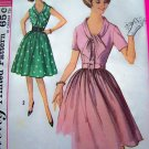 60s Vintage Jrs 11 Step In Dress Tie Ascot Sailor Collar Junior Paris Fashion Sewing Pattern 4905
