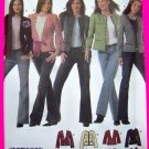 Lined Blazer Jacket Sz 4 6 8 10 Coat Design Your Own New Sewing Pattern 4954