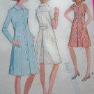 70s Vintage Coat Dress Coatdress Plus Size 38 B 42 McCall's Sewing Pattern 2688