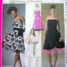 Sundress Strapless Straps Dress Cocktail Princess Top Flared Skirt 12 14 16 18 Sewing Pattern 4460