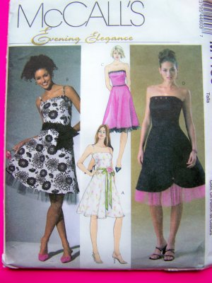 Sundress Strapless Straps Dress Cocktail Princess Top Flared Skirt 12 14 16 18 Sewing Pattern 4460