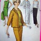 60's Vintage Slim Short or Maxi Skirt Overblouse Jacket B 34 Sewing Pattern 5206