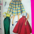 1950's Day Vintage Skirts Full Slim Poodle 1/2 Circle Skirt Jrs Teen Juniors Sewing Pattern 2151