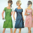 1960's Mod Vintage Dress A Line Panel Seaming Sz 12 B 34 Sewing Pattern 9265 Uncut