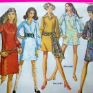 Vintage Dress Mini-Dress Slash Neckline Pointy Collar Hippie Scarf B 36 Sz 14 Sewing Pattern 8333