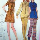 Vintage Tunic Top or Mini A Line Dress Shorts Pants B 32 Young Junior Teen 11/12 Sewing Pattern 6332