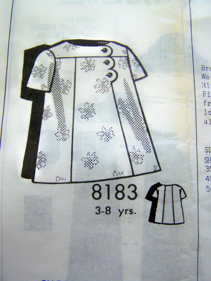 1960's Vintage Girls Dress Sue Burnett Mail Order Sewing Pattern 8183 FREE USA Shipping