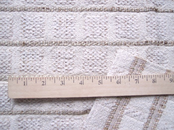 New Lee JOFA Foxwood Chenille Plaid Cotton Sewing Fabric Remnant Panel 960043 116