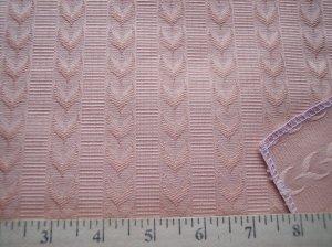 Williamsburg Restoration Satin Leaf Stripe Peach Tapestry Fabric Schumacher 58965