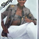Vintage Sewing Pattern Bandeau Bra Top Jacket Straight Leg Pants B 36 Simplicity 9968 Size 14