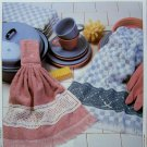 Crochet Pattern Pretty Towel Border Filet with Ribbons Vanna WHite Crocheting Patterns