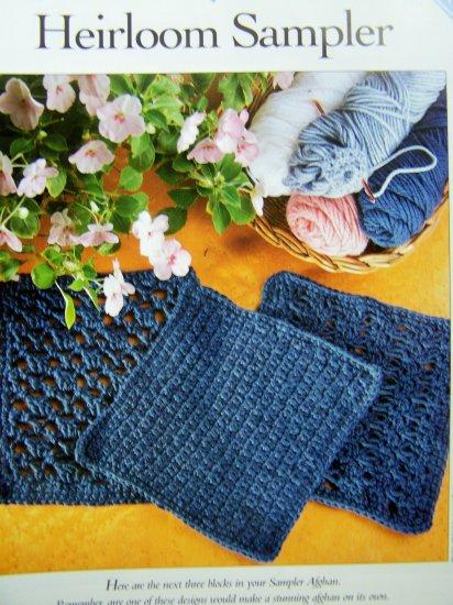 Crochet Pattern Heirloom Sampler Blocks Acacia Leaf Trellis Stitch