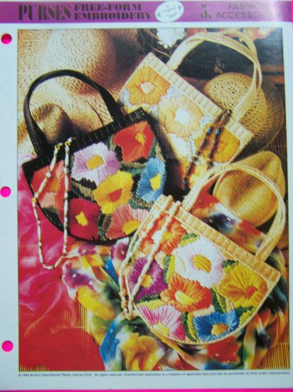 Plastic Canvas Pattern Embroidery Purse Beach Tote Hangbag Patterns