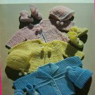 USA Free S&H Vintage Crochet Patterns Layettes for Baby Booties Hats Sweaters Layette Pattern