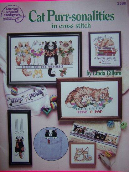 Cross Stitch Patterns Graph Book Cats Kittens Kitties Pattern Needlecraft