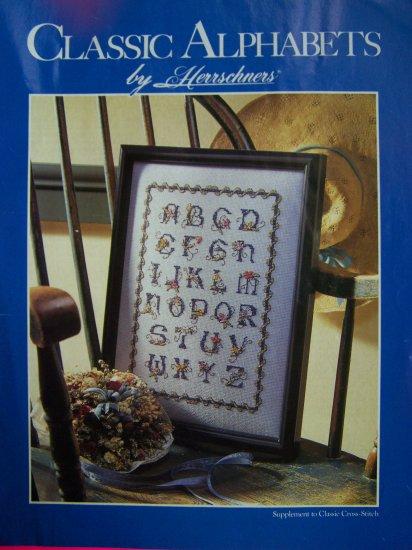 Vintage Herrschners Classic Alphabet 13 Styles Cross Stitch Crafts