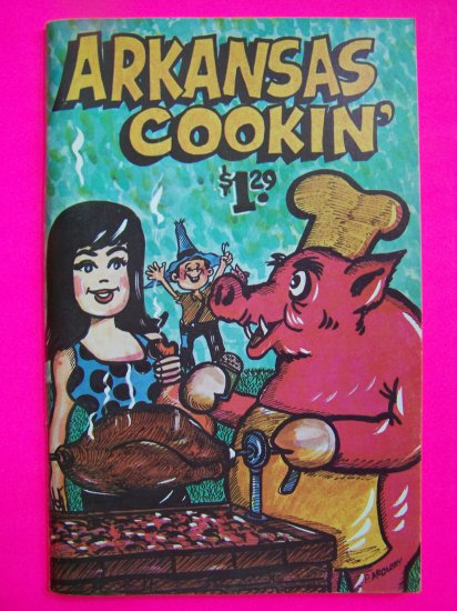 Vintage 1970s Arkansas Cookin Cookbook Razorbacks Cook Book Recipes