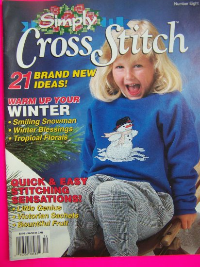 Simply Cross Stitch Back Issue Pattern Magazine 21 Quick & Easy  Patterns