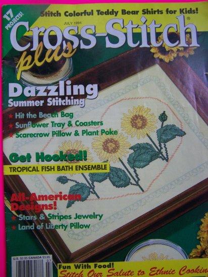 Cross Stitch Plus Pattern Magazine 17 Patterns July 1994