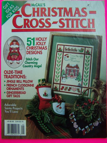 McCall's Christmas Cross Stitch Magazine Needlework Patterns Crafts Pattern