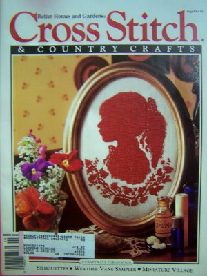 1990s Better Homes and Gardens Cross Stitch & COuntry Crafts Magazine Sept Oct 1991