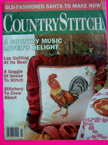 90s Country Stitch Magazine Cross Stitch Pattern Book Patterns Geese Rooster Ole World Santa