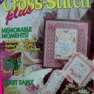 90's Cross Stitch Plus Pattern Book 19 Patterns Wedding Peony Afghan Christmas