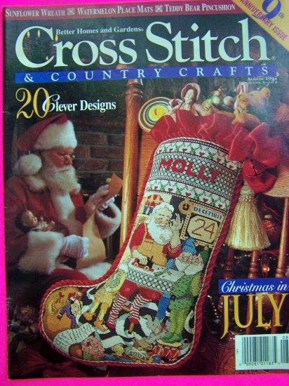 Cross Stitch and Country Crafts Pattern Magazine 9 Anniversary Back Issue Needlepoint Patterns