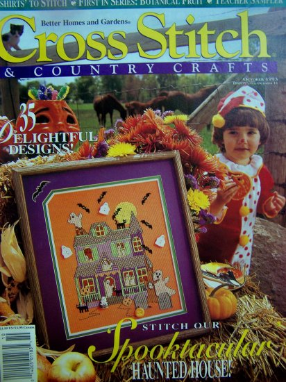 35 Patterns Better Homes and Gardens Cross Stitch and COuntry Crafts 1993
