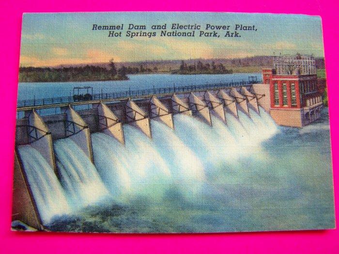 Remmel Dam Electric Power Plant Hot Springs National Park Arkansas Postcard Souvenir Picture Card