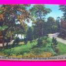 1940s Horse Shoe Curve West Side Hot Springs Mountain National Park Arkansas Postcard Landscape