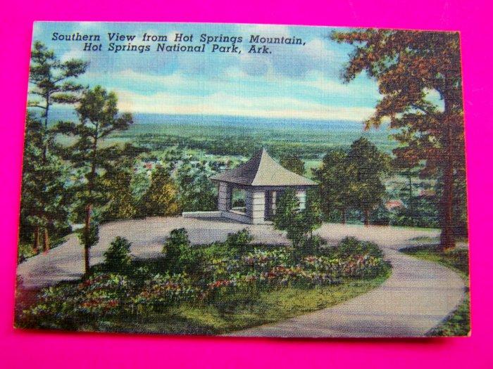 1940s Landscape Scene Hot Springs Mountain National Park Arkansas Souvenir Postcards