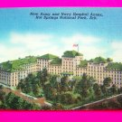 Vintage Linen Postcard New Army Navy Hospital Annex Building Hot Springs Arkansas Ark AR