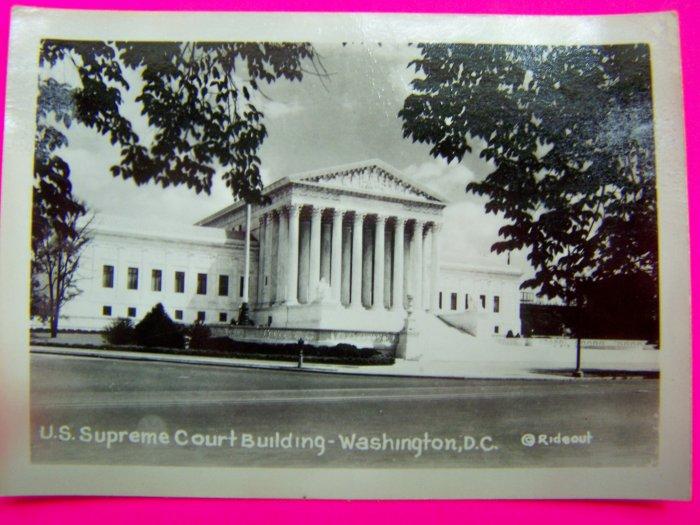 Vintage 30s US Supreme Court Building Photo Washington DC Rideout Velox Photogragh