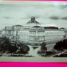 Vintage Black White Photo Library of Congress Washington DC Photograph Velox Glossy Rideout
