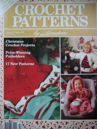 1980s Vintage Herrschners Crochet Patterns Magazine Christmas Pattern Boys Girls Baby Ornaments