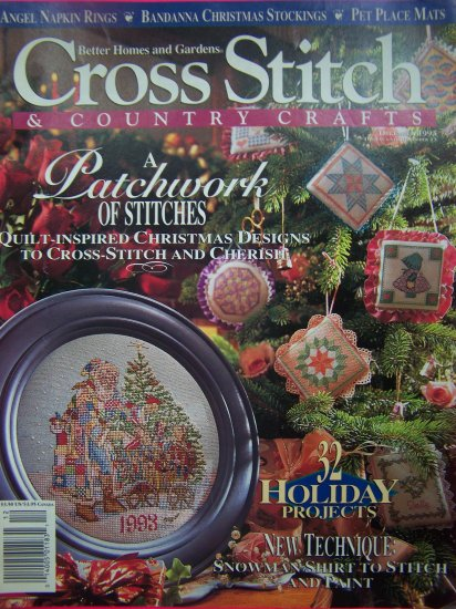 Better Homes and Gardens Cross Stitch Country Craft Christmas Patterns Holiday Pattern