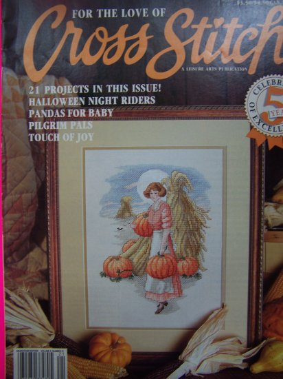 Leisure Arts For the Love of Cross Stitch Pattern Magazine 5th Anniversary Back Issue