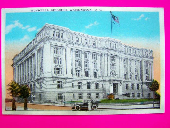 Vintage Postcard Municipal Building Washington DC 1930s 1940s