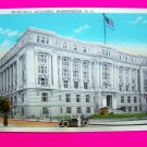 Vintage Postcard Municipal Building Washington DC 1930s 1940s