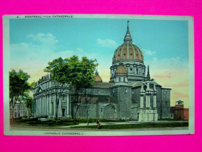 Vintage Postcard Catholic Cathedral Montreal Canada Carte Postale European Post Card