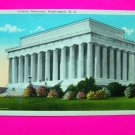 Vintage Postcard Lincoln Memorial Washington DC Historical USA Monument